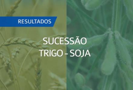 Somos parceiros da Embrapa no projeto Sucessão Trigo-Soja